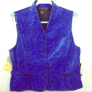 Classiques Entier Royal Blue Velvet Riding Vest XL